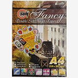 SUN Fancy Inkjet Paper Double Side 235 Gsm - Cross [Linen] - Kertas Foto / Photo Paper